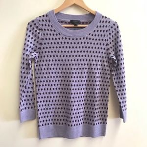 J Crew purple dot sweater